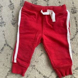 Hanna Andersson Red Jogger Sweatpants size 75